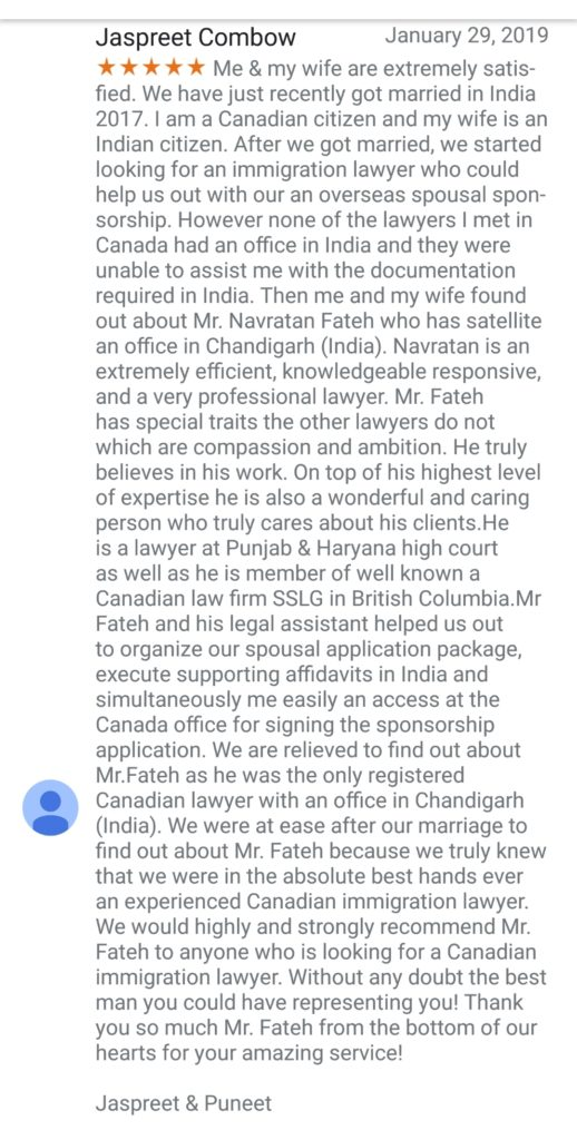 Best spousal sponsorship lawyer