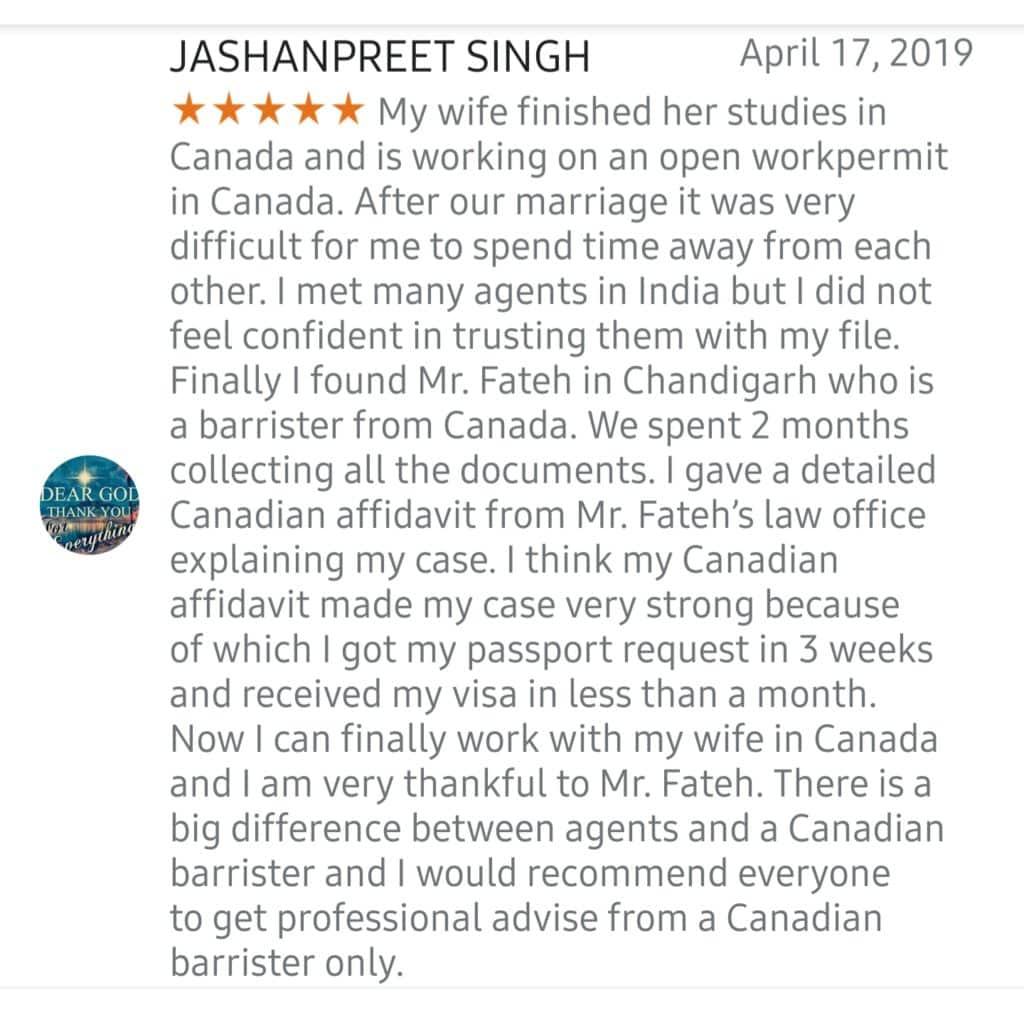 Spouse Visa work permit
